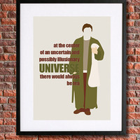 """Hitchhiker's Guide to the Galaxy Poster Art   8x10 Instant Download Printable   Douglas Adams   """"There Would Always be Tea..""""   Arthur Dent"""
