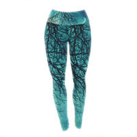 "Sylvia Cook ""Winter Moon"" Yoga Leggings"