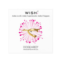 large wishbone ring, gold dipped, size 5 - Dogeared