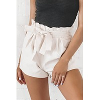 Park Ave Natural Paper Bag Shorts