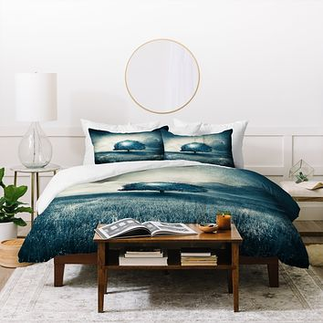 Viviana Gonzalez Energy From The Blue Tree Duvet Cover