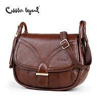 Women's Genuine Leather Vintage Single Shoulder Crossbody  Handbags