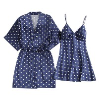 Sexy Underwear V-Collar Robe Lingerie Sling Nightgown