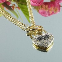 8DESS Coach Woman Fashion Accessories Fine Jewelry Chain Necklace