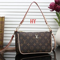 Louis Vuitton LV Women Fashion Leather Tote Crossbody Satchel Shoulder Bag