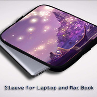 Disney Tangled the lights Sleeve for Laptop, Macbook Pro, Macbook Air (Twin Sides)