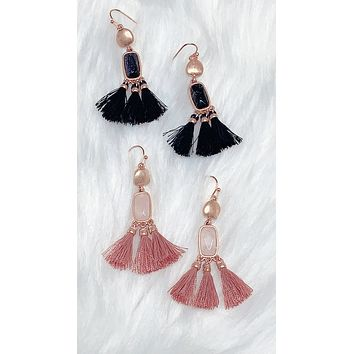 Stay In Your Own Lane Tassel Earrings