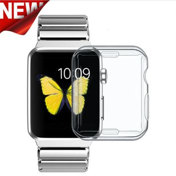 TPU Clear Slim Soft Case Cover 38/42MM Cover Screen Protector Film Accessories For Apple Watch 1 2 3