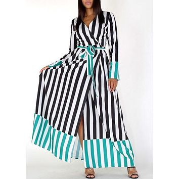 All of the Stripes Maxi Dress