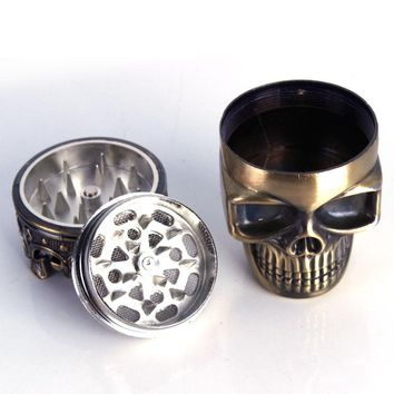 1pcs Creative Skull 3 layer Cigarette Tobacco Pipe Accessories Spice Weed Herb Grinder Smoke Crusher Muller Mill Smoking Bong