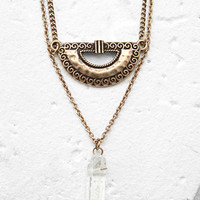 Faux Gemstone Layered Necklace