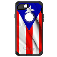 DistinctInk™ OtterBox Defender Series Case for Apple iPhone / Samsung Galaxy / Google Pixel - Red White Blue Puerto Rico Flag
