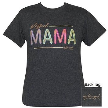 Girlie Girl Originals Preppy Blessed Mama Glitter T-Shirt