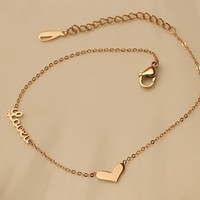 Hot Sale Great Deal Shiny New Arrival Stylish Gift Awesome Alphabet Anklet Titanium Bracelet [8169869255]