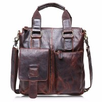 Genuine Leather Vintage Style Briefcase for Laptops