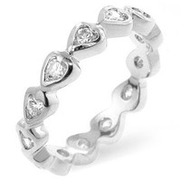 Heart Eternity Ring, size : 05