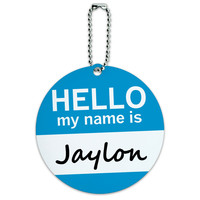 Jaylon Hello My Name Is Round ID Card Luggage Tag