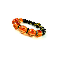 Dragon Ball Z, Goku's Dragon Ball Power Bracelet, Shenron Bracelet, Black and Gold Dragon Ball Z Jewelery, DragonBall Super, Japanese Gift