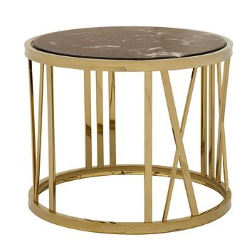 Round Gold Side Table | Eichholtz Baccarat