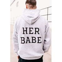 """""""Her Babe"""" Graphic Hoodie (Ash) - Print On Demand"""