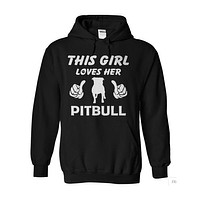 Dog - THIS GIRL LOVES HER PITBULL -Unisex Hoodie  - SSID2016