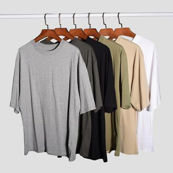 hipster mens streetwear korean fashion men urban clothing fitness tshirts kanye justin bieber hiphop plain oversized t shirt