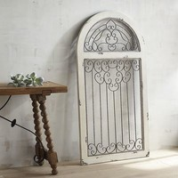 White Antiqued Arch Wall Decor