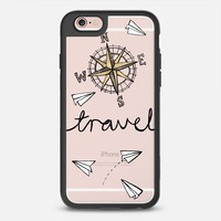 iPhone Case With Interchangeable Back Plates by Casetify  Travel Compass Paper Plane Design by Tangerine Tane (iPhone 6,6s,6 Plus,6s Plus,7)
