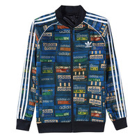 Trendsetter ADIDAS Women Men Unisex Cardigan Jacket Coat Two Sides Wear
