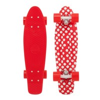 """Penny 22"""" Holiday Polka Dot Red/Red-White/Red Mini Longboard Complete"""
