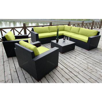 Coral Gables 8 Piece Modular Sectional Patio Set Multiple Colors