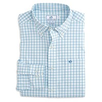 Nassau Gingham Intercoastal Performance Shirt in Sky Blue by Southern Tide