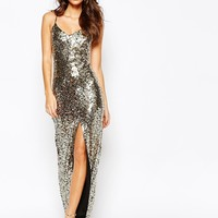 NaaNaa All Over Sequin Dress With Cross Back