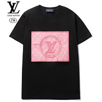 Onewel Louis Vuitton 2020 LV denim pink denim blue jacquard craft + embroidery big logo black pink