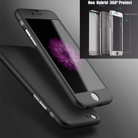 Neo Hybrid Hard PC 360 Degrees Full Protect Case Cover For iPhone 6 6S 6  6S Plus Free Gift Tempered Glass Screen Protector 1520-4