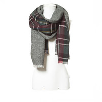 DOUBLE - SIDED SOFT CHECKED SCARF - Scarves - Accessories - WOMAN | ZARA United Kingdom