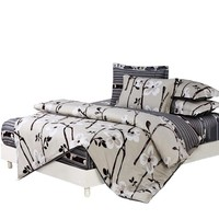 Papa&Mima 6pcs Bedding sets Duvet Cover set Pillowcase fitted Bedsheet 100% cotton king queen full twin size bedclothes linens