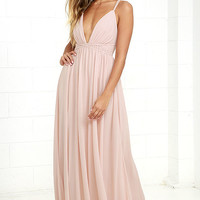 Flutter Freely Blush Pink Maxi Dress