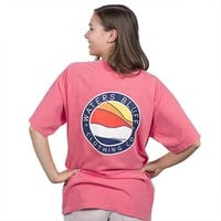 Bluff Horizon Tee Shirt in Watermelon by Waters Bluff