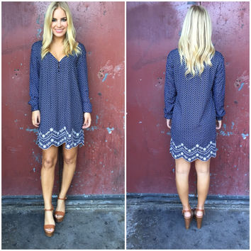 Ellie Scallop Embroider Rayon Dress