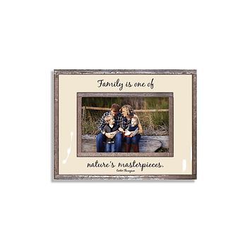 Family Is One Of Nature's Masterpieces Copper & Glass Photo Frame