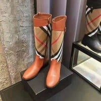 BURBERRY  Women Casual Shoes Boots  popularable casual leather