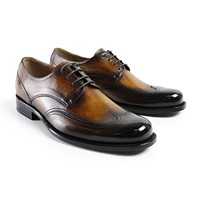 Men flat Vintage retro custom made men's derby shoes awesome fashion dress luxury wedding lace up 100% genuine leather
