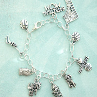 i love basketball charm bracelet