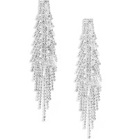 Silver Sparkler Duster Earrings