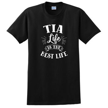 Tia life is the best life promoted to auntie aunt squad auntie team T Shirt