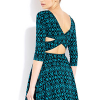 Worldly Girl Cutout Dress