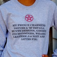 Supernatural My Prince Charming Long Sleeve Shirt from Evangelina's Closet