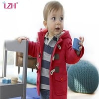LZH Children Clothes 2017 Autumn Winter Boys Jackets For Boys Coat Kids Warm Wool Outerwear Coat Hooded Baby Boy Jacket Clothing