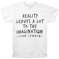 John Lennon Men's  John Lennon Reality Imagination T-shirt White